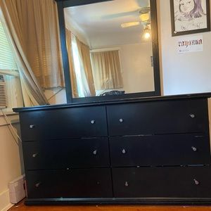 Home Furniture: Dresser with Mirror.